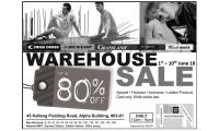WAREHOUSE SALE ! 1 - 10 JUNE 2018