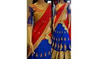 Exclusive collection of georgette lehengas @ Mirraw.com