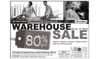 WAREHOUSE SALE! NOW ON! 23 JAN - 6 FEB'19