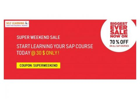 LEARN ANY  SAP COURSE @ 30 $