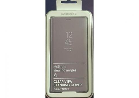Original Samsung Galaxy Note 9 Clear View Standing Cover (Lavender colour)