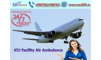 Hire Medilift Air Ambulance Service in Siliguri with Medical Facility
