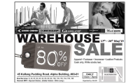 WAREHOUSE SALE ! 17 - 26 MAY 2019