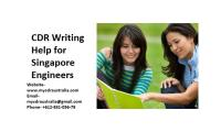 CDR Writing Help for Singapore Engineers by mycdraustralia.com