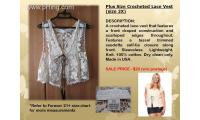 Brand New Forever21+ Crocheted Lace Vest (size 2X)