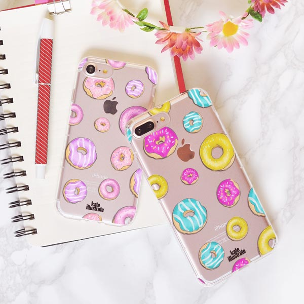 Donuts Pink designed by kateillustrate