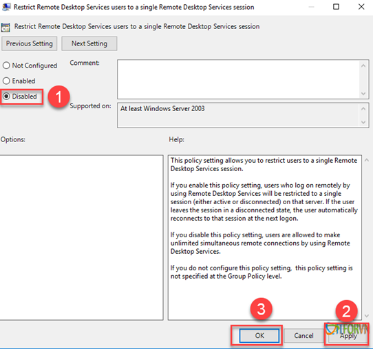 ARROWTRAN.COM 112020_0831_Hngdncuh15 Cấu hình cho phép nhiều User cùng Remote Desktop vào Windows Sever 2016 Allow Multiple Remote Desktop