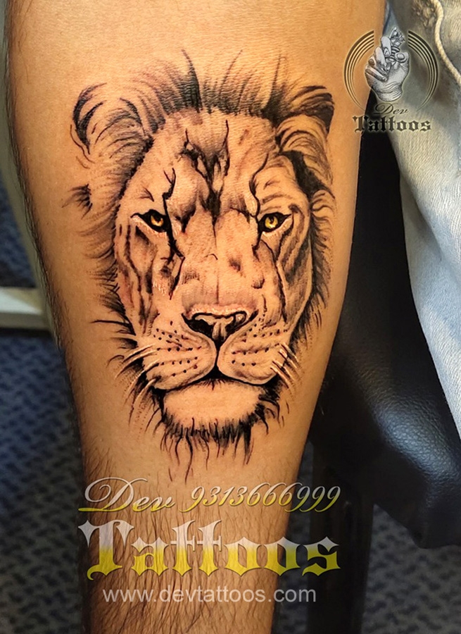 LION TATTOO ART