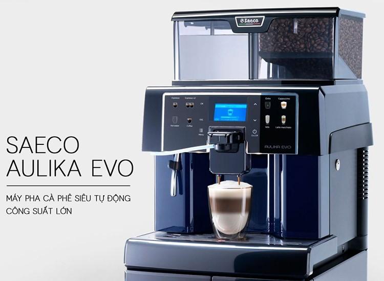 Máy Pha Cà Phê Tự Động Saeco Aulika EVO TOP HSC - Hàng chính hãng - Máy pha cà phê chuyên dụng | VatDungNhaBep.com