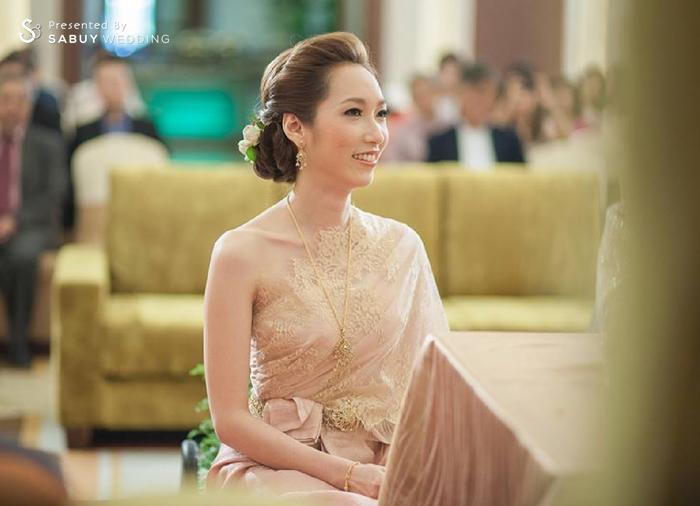 เจ้าสาว,ชุดหมั้น,ชุดไทย Saree ผู้นำเทรนด์ชุดเจ้าสาวเรียบโก้