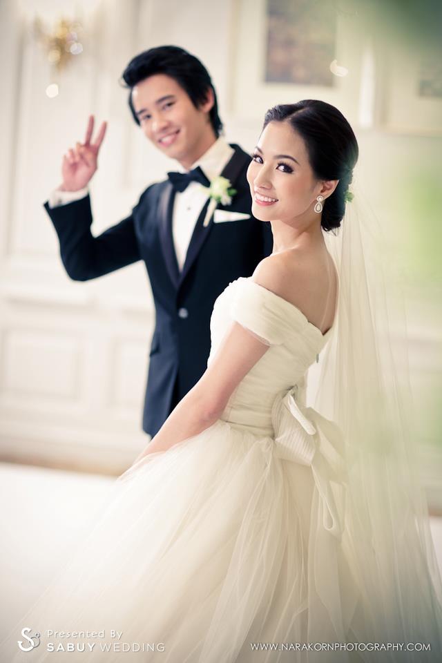 เจ้าบ่าว,เจ้าสาว,งานแต่งงาน ชุดเจ้าสาวอวดไหล่สวย