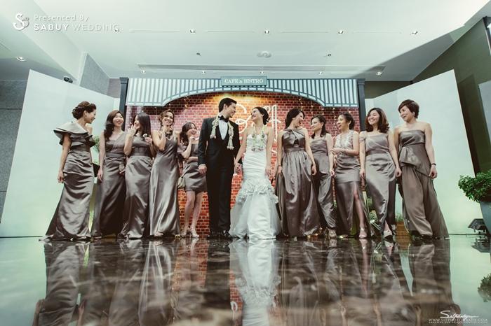 บ่าวสาว,ชุดบ่าวสาว,ชุดเจ้าสาว,ชุดเจ้าบ่าว,เพื่อนเจ้าสาว,ชุดเพื่อนเจ้าสาว,backdrop งานแต่ง,รูปงานแต่ง,สถานที่แต่งงาน,สถานที่จัดงานแต่งงาน รีวิวงานแต่ง สองธีมจัดไป แต่งแบบไทยและปาร์ตี้ Bistro @The Okura Prestige
