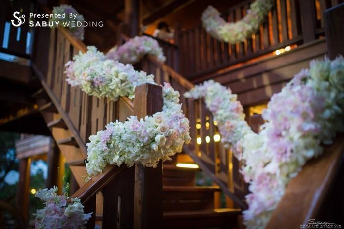 ตกแต่งงานแต่ง,จัดดอกไม้งานแต่ง,สถานที่แต่งงาน,สถานที่จัดงานแต่งงาน รีวิวงานแต่ง สองธีมจัดไป แต่งแบบไทยและปาร์ตี้ Bistro @The Okura Prestige