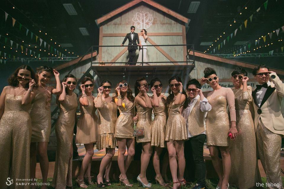 บ่าวสาว,ชุดบ่าวสาว,เพื่อนเจ้าสาว,ชุดเพื่อนเจ้าสาว,สถานที่แต่งงาน,สถานที่จัดงานแต่งงาน,ธีมงานแต่ง,ตกแต่งงานแต่ง รีวิวงานแต่ง Outdoor งานนี้การันตีความสนุก @Moonstar Studio