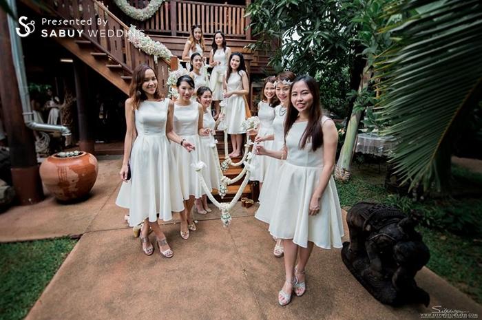 เพื่อนเจ้าสาว,ชุดเพื่อนเจ้าสาว,ประตูเงินประตูทอง,งานหมั้น,สถานที่แต่งงาน,สถานที่จัดงานแต่งงาน รีวิวงานแต่ง สองธีมจัดไป แต่งแบบไทยและปาร์ตี้ Bistro @The Okura Prestige