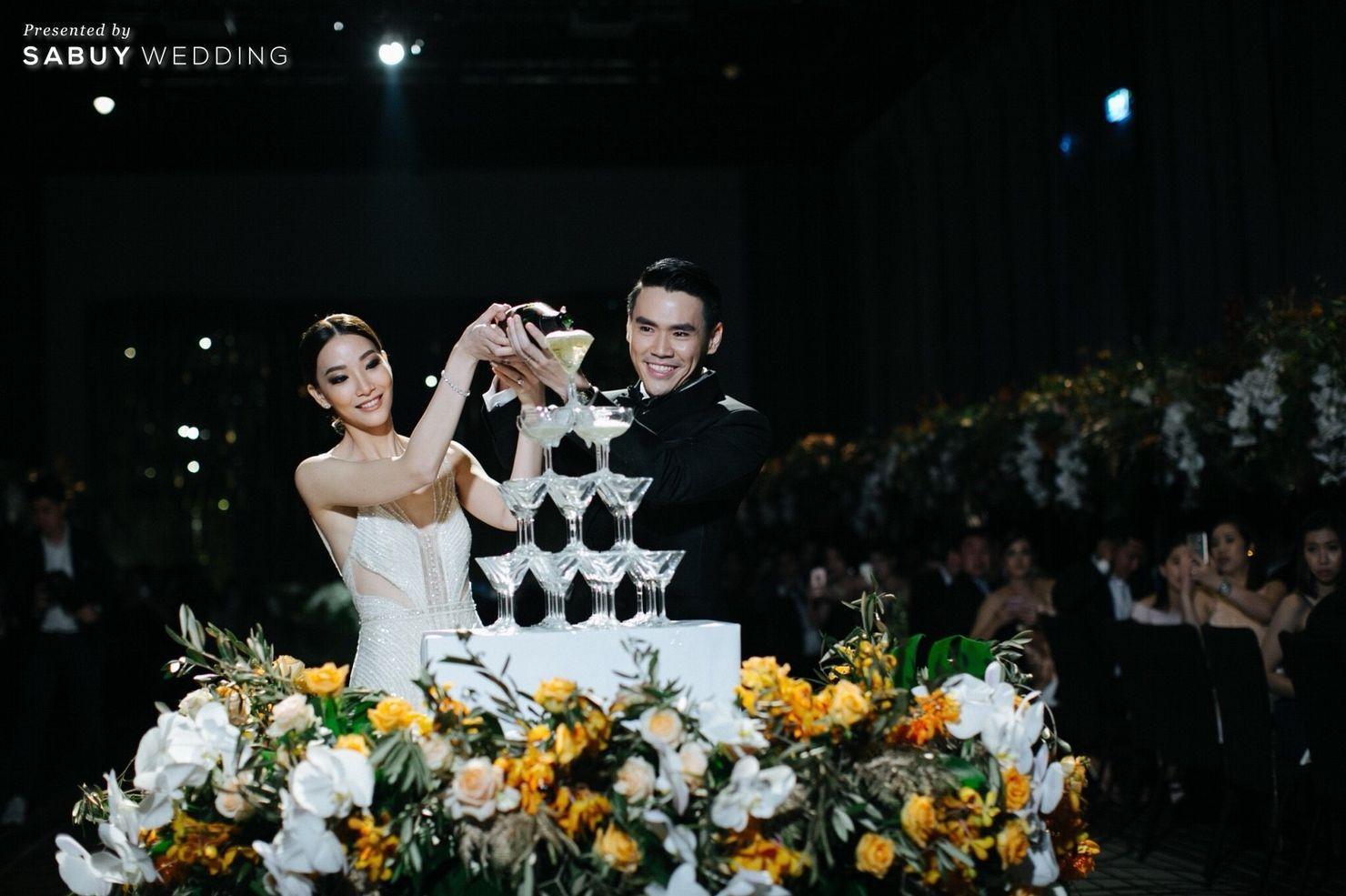 พิธีแต่งงาน,งานแต่งงาน,สถานที่แต่งงาน,โรงแรม.บ่าวสาว,ชุดเจ้าสาว,ตกแต่งงานแต่ง,จัดดอกไม้งานแต่ง,รินแชมเปญ รีวิวงานแต่ง Sit-down Lunch และ Dinner เฉียบเรียบโก้ โมเดิร์นมาก @SO Sofitel Bangkok