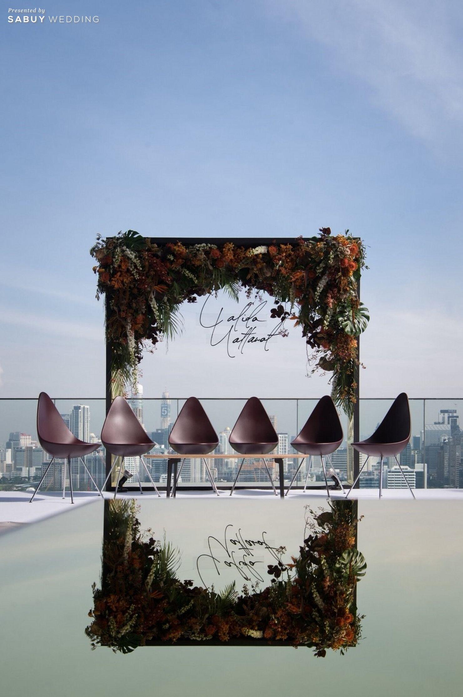 สถานที่แต่งงาน,โรงแรม,rooftop,ตกแต่งงานแต่ง,จัดดอกไม้งานแต่ง,สถานที่แต่งงานดาดฟ้า รีวิวงานแต่ง Sit-down Lunch และ Dinner เฉียบเรียบโก้ โมเดิร์นมาก @SO Sofitel Bangkok