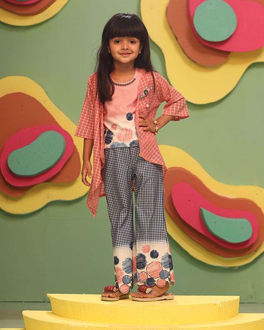 Picture of GIRLS FASHION TOP BOTTOM WITH KOTI