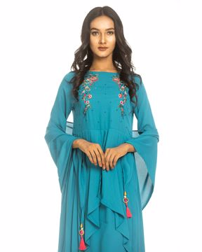 Picture of Ethnic Kurtis with Fashionable scarf