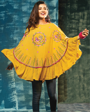 Picture of WOMENS WOVEN CAPE TOPS