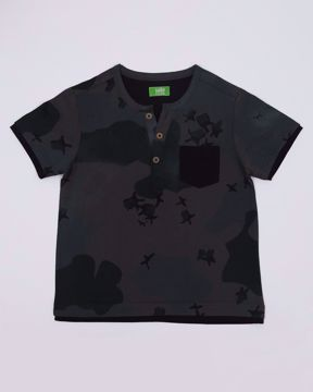 Picture of Boys Camo Henley Shirt
