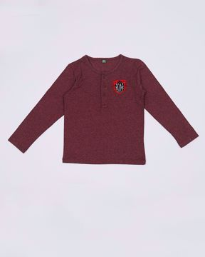 Picture of NEWBORN BOYS KNIT HENLEY SHIRT (F/S)