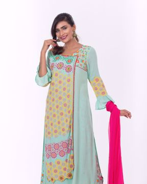 Picture of Angrakha Style Ethnic Kurti