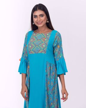 Picture of Flared Fusion Kurti