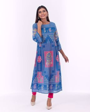 Picture of Ethnic  A-Line Luxury Cotton Kurti