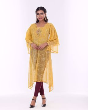 Picture of Long & Round pattern Fusion Kurti