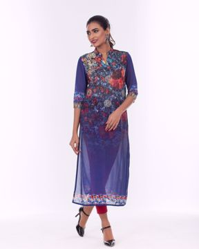Picture of Ethnic Kurti in Lightweight Georgette