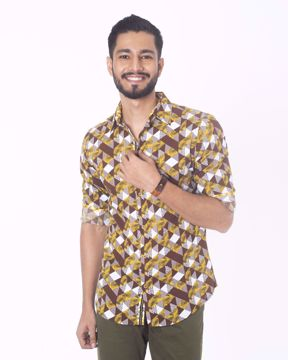 Picture of Geometric & Natural Art Casual Shirt