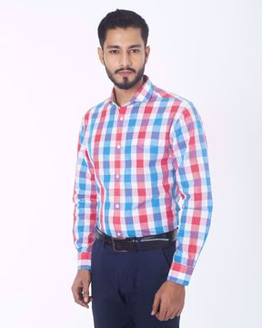 Picture of Gingham Check Smart Casual Shirt