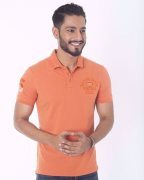 Picture of Solid Pique Fashion Polo