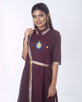 Picture of Wrap Pattern Fusion Kurti