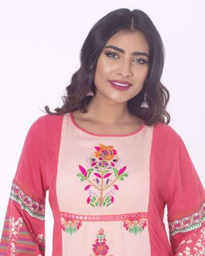 Picture of Cowl Pattern Ethnic Kurti