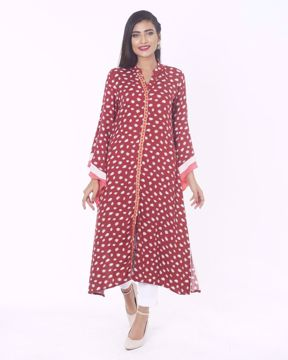 Picture of Straight cut Viscose Ethnic Kurti
