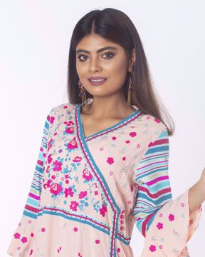 Picture of Angrakha pattern Ethnic Kurti