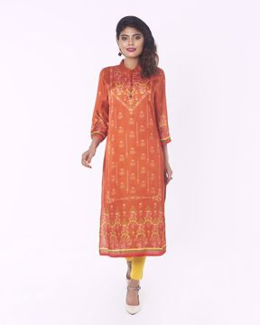 Picture of WOMENS WOVEN LONG KURTIES