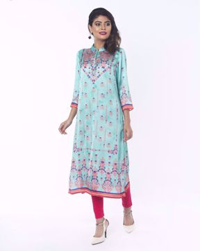 Picture of Shamu Silk Ethnic Kurti