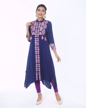 Picture of Round Flared Ethnic  Kurti