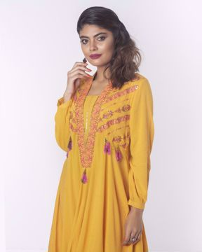 Picture of Asymmetric Flared Ethnic Kurti