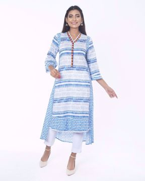 Picture of A-line Kaftan Neck Ethnic Kurti