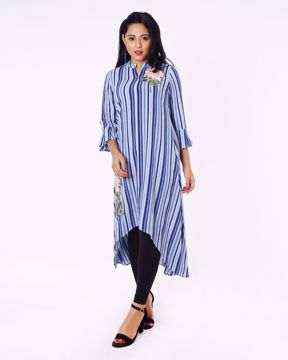 Picture of Placement Embroidered Fusion Kurti