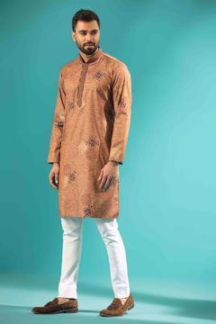 Picture of Cotton & Silk Blended Premium Kurta
