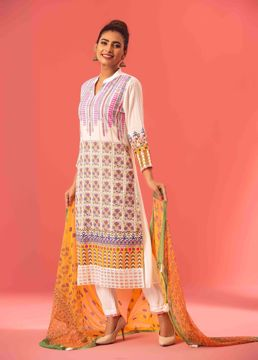 Picture of A-line Ethnic Kurti Suit