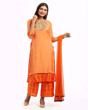Picture of Double-layered Ethnic Silk Kurti