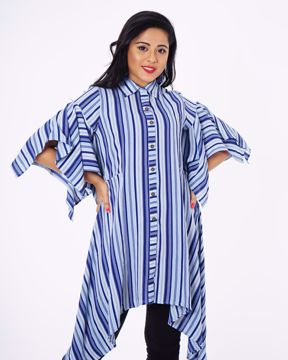 Picture of Asymmetric Style Fusion Kurti