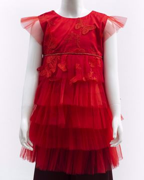 Picture of GIRLS WOVEN PARTY DRESS