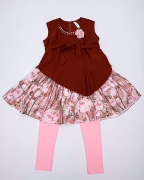 Picture of GIRLS FASHION FROCK SET(IN) (2Y) (3-4Y)